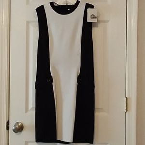 GIVENCHY black and white colorblock dress Large